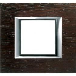 Rama Bticino HA4802LWE Axolute - Rama din lemn, rectangulara, 2 module, wenge