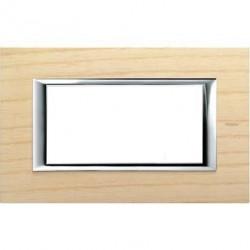 Rama Bticino HA4804LFR Axolute - Rama din lemn, rectangulara, 4 module, st. italian, ashwood