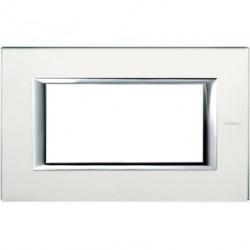 Rama Bticino HA4804VSA Axolute - Rama din sticla, rectangulara, 4 module, st. italian, mirror glass