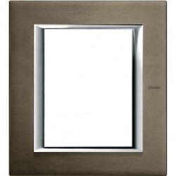Rama Bticino HA4826BR Axolute - Rama metalica, rectangulara, 3+3 module, st. italian, brushed bronze