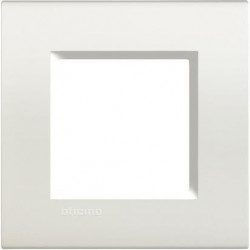 Rama Bticino LNA4802BI Living Light - Rama 2 module, rectangulara, din plastic polimerizat, alb