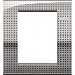 Rama Bticino LNC4826NE Living Light Air - Rama 6 module (3+3), din zamak, net