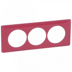 Rama Legrand 68819 Celiane - Rama 3 posturi, polimer, interax 57mm, magenta