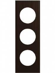Rama Legrand 69203 Celiane - Rama din lemn, 3 posturi, interax 71mm, wenge