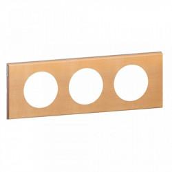 Rama Legrand 69213 Celiane - Rama din lemn, 3 posturi, interax 71mm, artar