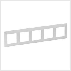 Rama Legrand 754145 Valena Life - Rama 5 posturi, alb perlat