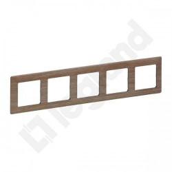 Rama Legrand 754185 Valena Life - Rama 5 posturi, lemn deschis