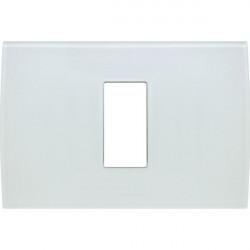 Rama Tem OP13GW-U Modul - Rama din sticla decorativa Pure 1/3M alb gheata