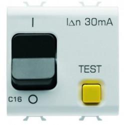 Siguanta Gewiss GW10489 Chorus - Disjunctor modular diferential RCCB, 2M, 1P+N, 16A, C, 3kA, 30mA, alb