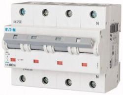 Siguranta automata Eaton 248065 - DISJUNCTOR PLHT-C80/3N 15-25kA 4P, 80A, C