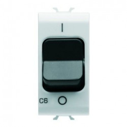 Siguranta Gewiss GW10461 Chorus - Disjunctor modular, 1M, 1P, 6A, curba C, 3kA, alb