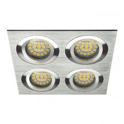 Spot Kanlux 18286 SEIDY - Spot dublu directional, incastrat, Gx5,3, 12V , 4xmax 50W, IP20, aluminium