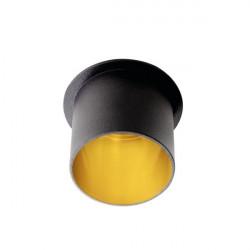 Spot Kanlux 27320 Spag - Inel spot incastrat LED GU10, max 35W, negru/auriu