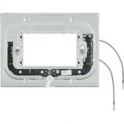 Suport Bticino HA4703X Axolute - Suport luminos, 3 module, pentru rame rectangulare