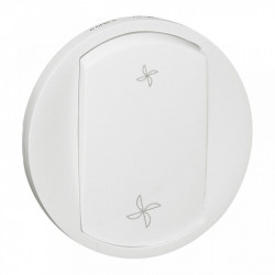 Tasta Legrand 68061 Celiane - Placa intrerupator ventilatie, alb