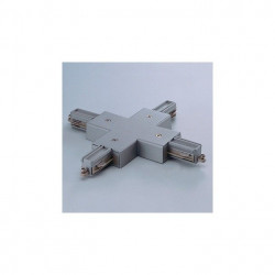 Conector Arelux Minitrack MT1011 S - Element de conexiune si alimentare in cruce 1C, argintiu