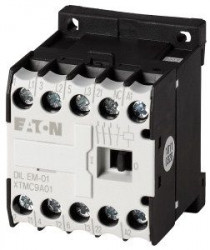 Contactor Eaton 051643 - Contactor putere DILEEM-10-G(24VDC)-Contactor 3KW AC-3 1ND