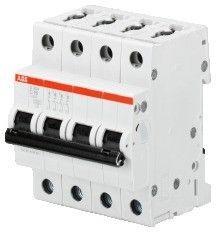 Contactor modular ABB 2CDS254001R0204 - S204-C - MCB 6KA, 4P, C20 Intrerupator automat 4P 20A C 6kA