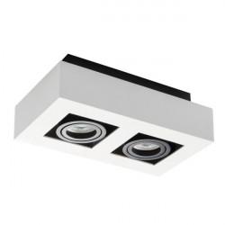 Corp iluminat Kanlux STOBI 26833 - Plafoniera led 2x25W, Gu10, IP20, alb/negru
