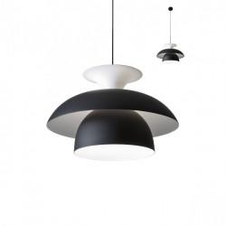 Corp iluminat Redo 01-1412 Norvik - Lustra, max 1x42W, E27, IP20, negru- alb