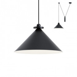 Corp iluminat Redo 01-1546 Kalimba - Lustra, max 1x42W, IP20, E27, negru
