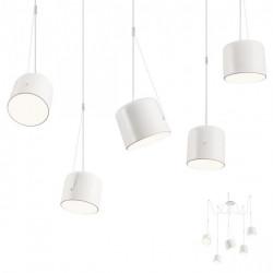 Corp iluminat Redo 01-1827 Dodo - Lustra, E27, mx 5x42W, IP20, alb