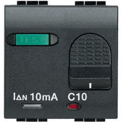 Intrerupator Bticino L4305/16 Living Light - Intrerupator cu disjunctor, 1M, 16A, 3kA, 230V, negru