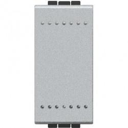 Intrerupator Bticino NT4001A Living Light - Intrerupator simplu 16A - 250V, 1 modul, borne automate, argintiu