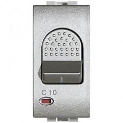 Intrerupator Bticino NT4301/16 Living Light - Intrerupator cu disjunctor, 1M, 16A, 3kA, 230V, argintiu