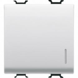 Intrerupator Gewiss GW10172F Chorus -Intrerupator cu revenire, cu led, cablare rapida, 2M, 1P, NO, 16A, alb