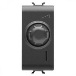 Intrerupator Gewiss GW12567 Chorus - Intrerupator cu variator, cap scara, 1M, 100-500W, NEGRU