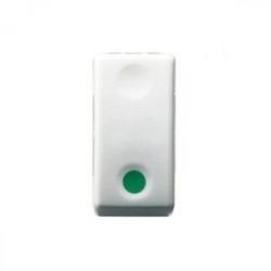 Intrerupator Gewiss GW20522 System - Intrerupator cu revenire si indicator verde10A 1P 1M Alb
