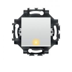 Intrerupator Gewiss GW35012W Dahlia - Intrerupator cap scara cu led, 1P, 10AX, alb