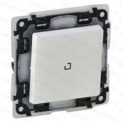 Intrerupator Legrand 752161 Valena Life - Intrerupator simplu cu lumina de control, IP44, borne automate, LED, 10AX, alb