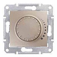 Intrerupator Schneider SDN2200768 Sedna - Intrerupator cu variator rotativ cu pornire prin apasare, cap scara, RC, 230 V, 25W-325W, titan