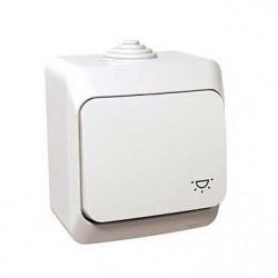 Intrerupator Schneider WDE000513 Cedar - Intrerupator cu revenire pentru lumina IP44, alb