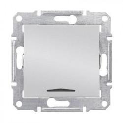 Intrerupatror Schneider SDN0201160 Sedna - Intrerupator bipolar cu indicator luminos rosu, 10 AX - 250 V, aluminiu