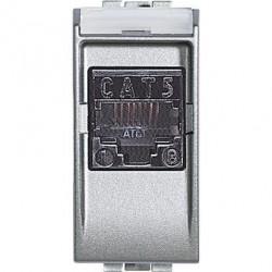 Priza Date Bticino NT4261AT5 Living Light - Priza Rj45, UTP, Cat 5E, 1M, argintiu