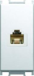 Priza RJ11 Tem KM36PW-B Modul - Priza telefon RJ11 cat 3 1m alb