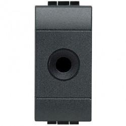 Priza semnal Bticino L4391 - Conector audio, Jack 2 contacte, 10A 48V, 1M alb