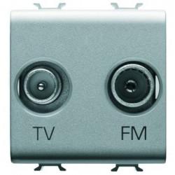 Priza TV/FM Gewiss GW14381 Chorus - Priza TV/FM de capat, 2M, TITANIUM