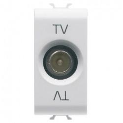 Priza TV Gewiss GW10364 Chorus - Priza Tv tata, intermediara, atenuare, 14dB, 1M, alb