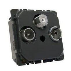 Priza TV Legrand 067389 - Priza RD-TV-SAT cu 2 cabluri, de capat