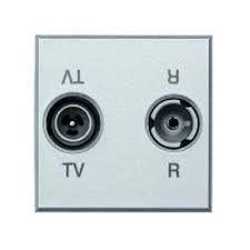 Priza TV/RD Bticino HC4211D Axolute - Priza TV-RD , 2M, argintiu