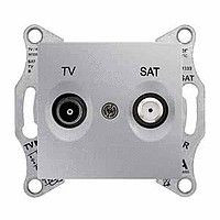 Priza TV/SAT Schnedier SDN3401660 Sedna - Priza TV/SAT, de capat, atenuare 1dB, aluminiu