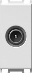Priza TV Tem KM11PW-B Modul - Priza TV-SAT capat 1m alb