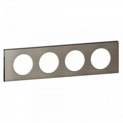 Rama Legrand 69104 Celiane - Rama metalica, 4 posturi, interax 71mm, inox