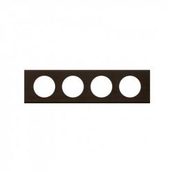 Rama Legrand 69204 Celiane - Rama din lemn, 4 posturi, interax 71mm, wenge