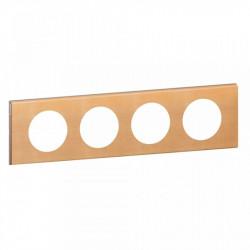 Rama Legrand 69214 Celiane - Rama din lemn, 4 posturi, interax 71mm, artar