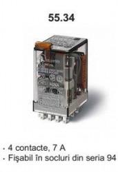 Releu Finder 553490242000 - Releu comutatie 240V, AC/DC, 4C